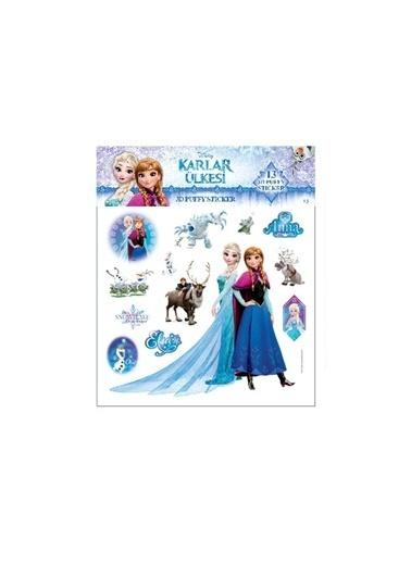 Disney Frozen 3D Puffy Sticker Renkli